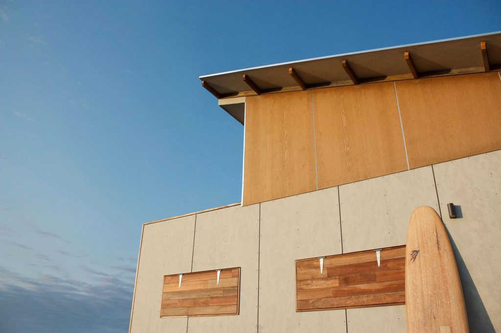 plywood home exterior