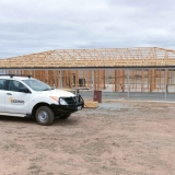 New build homes frame